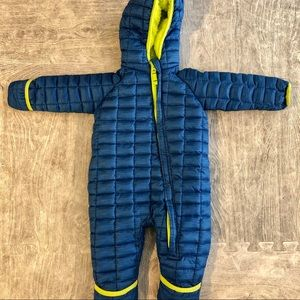 Snozu bunting fleece lined suit blue 9-12 months